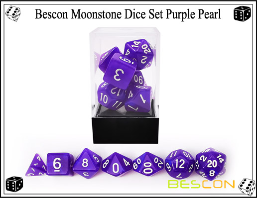 Purple Pearl Dice Set-5