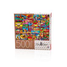 Jogos para adultos Quebra-cabeça de papel personalizado de 500 personalizados