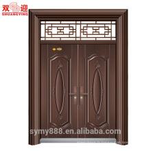La porte principale de maison d'entrée de villa de luxe conçoit des portes de sécurité en acier inoxydable de la Chine