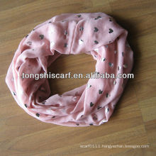 fashion bronzing girl infinity scarf