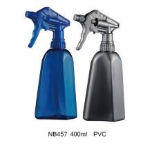 Botella del rociador del disparador del PVC 400ml para limpiar (NB457)