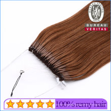 Natural Long Easy Pull Knot Thread Hair Extension Brazilian Human Virgin Hair Grade