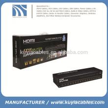 16 ports Splitter HDMI, HDMI Splitter 1X16, HDMI V1.4, support 4K * 2K, 3D, Full HD 1080P, machine d'ingénierie!