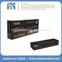 16 port Splitter HDMI, HDMI Splitter 1X16, HDMI V1.4, support 4K*2K, 3D, Full HD 1080P, engineering machine!