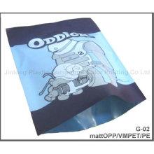 Gran bolsa de plástico de impresión de prendas de vestir para la ropa interior