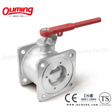 Stainless Steel Square Flange Ball Valve (Q41F-16P)
