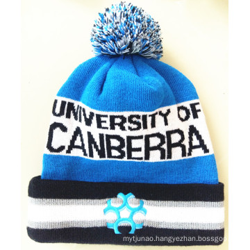 100% Acrylic Heathered Roll up Knitted Beanie Hats (S-1061)