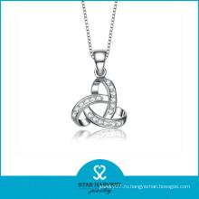 Родий Покрытие Стерлингового серебра Rhinestone Choker Ожерелье