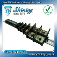 TA-200 35mm DIN Rail monté 600V 200 Amp Bus Bar Wire Connector