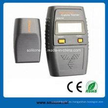 Probador de cables LAN con instrucción de retroiluminación de LCD