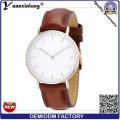 Yxl-646 IP chapado lindo elemento de moda de cuero Geuine banda de cuero Cómodo reloj de pulsera Reloj Vogue Precio