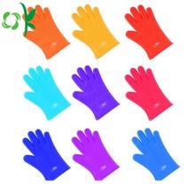 Guantes de lavado de cocción de silicona con guantes depuradores