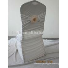 Encantador Plissado Spandex Cadeira Cobre