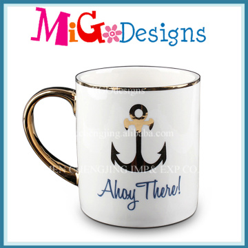 High Quality White Ceramic Mugs with Custom Design