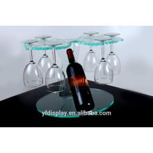 Porte-verre à vin haut transparent