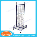 wall mounted sport shops metal wire grid display stand