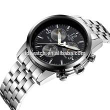 skone 7145 logo custom stainless steel back water resistant watch