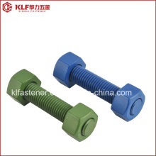 Stud Bolts - B7 Unc - Zinc Yellow + PTFE Blue