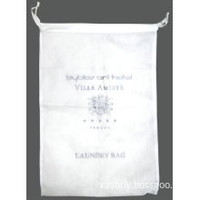 Cotton, Non Woven And Plastic Spa, Bar Or Hotel Laundry Bags, Laundry Hamper Bag