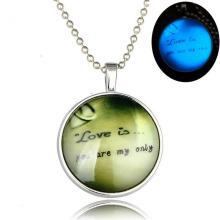 2016 Charm Luminous Necklace Letter in Zinc Alloy Jewelry Pendant Alloy Ziron