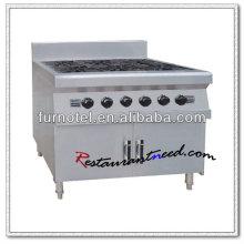 K396 Equipamento de cozinha com armário de 6 queimadores Gama de cozinha a gás