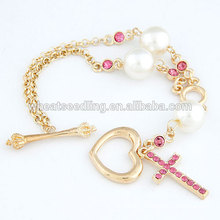 The cross hanging personality love forever bracelet