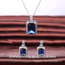 bridal jewelry set wedding gift for women rectangle shape jewelry accessories