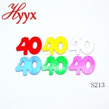 HYYX atacado barato mesa confetti / 40th festa de aniversário fornece confetti para decorações
