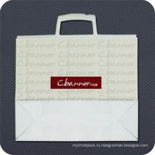 Пластичная хозяйственная сумка с кнопкой-печать