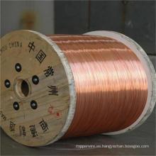 Alambre de acero revestido de cobre del cable coaxial de 0.10mm-4.0mm