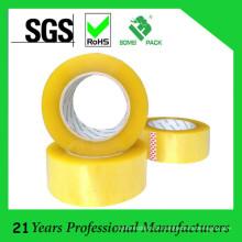 Fita adesiva acrílica amarelada da largura de 48mm BOPP