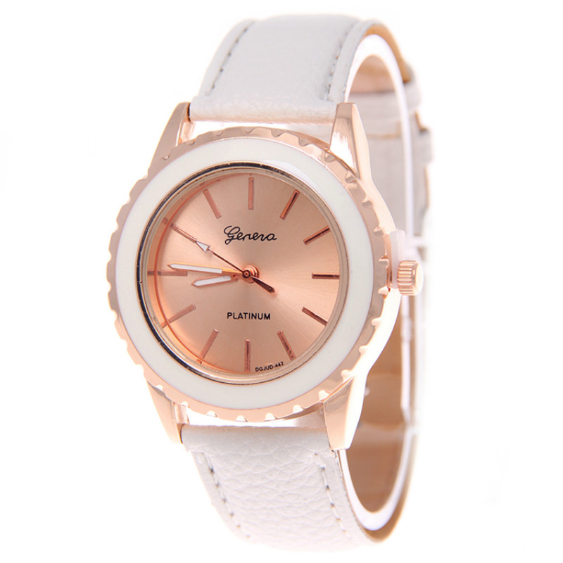 Gold Leather Watch Women For Business