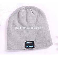 PK18ST016 chapéus de fone de ouvido sem fio de cor sólida de malha simples