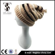 Les conceptions à la mode ont tricoté un chapeau d'hiver chaud pour les femmes