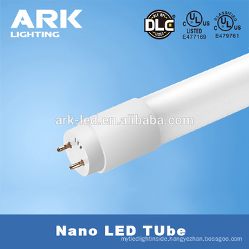 UL DLC listed Nano T8 led tube , 170 lm/w dual model compatible 10w T8 led tube light