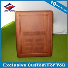 Trofeo personalizado de la placa de madera Soild de la pared grabada