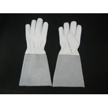 Козья кожа ладони работы перчатки TIG сварка--6600