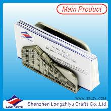 Titular de la tarjeta adhesiva Titular de la tarjeta de visita metálica