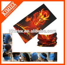 A accueilli le tissu bleu imprimé au léopard turban turquoise turban