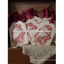 2015 haute qualité vente chaude cadeau à la main étiquettes papa Noël vintage rouge Noël papier blanc étiquettes cadeaux
