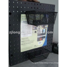 Factory supplier free sample metal mesh office decorative document display basket