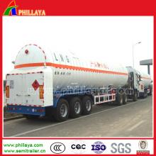 Niedriger Temperatur-verflüssigter Sauerstoff-Stickstoff-Argon-Gasbehälter-halb Anhänger