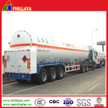 Low Temperature Liquefied Oxygen Nitrogen Argon Gas Tank Semi Trailer
