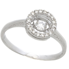 Hot Fashion Jewelry 925 Silver Dancing Diamond Ring Jewelry