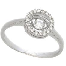 Jóias De Moda Quente 925 Jóias De Anéis De Diamante De Dança De Prata