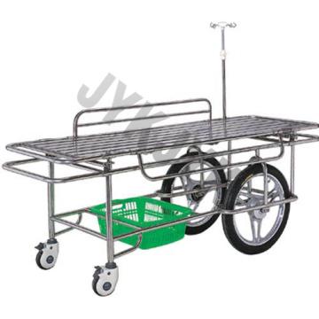Chariot à fourche en acier inoxydable avec grandes roulettes