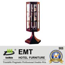 Gabinete de vino decorativo de madera del diseño único de la ventana de cristal (EMT-DC08)