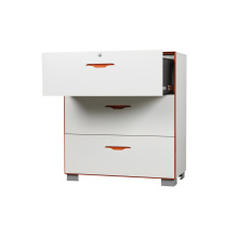 Stand Feet 3 Drawers Filing Cabinet Metal Steel Cabinet
