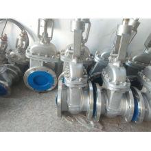 Brida Válvula de compuerta de acero inoxidable para gas y agua (Z41F)