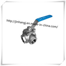 Stainless Steel 3 Way Ball Valve, T Port Three Way Ball Valve Handle